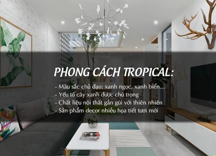 Cốt lõi trong phong cách Tropical